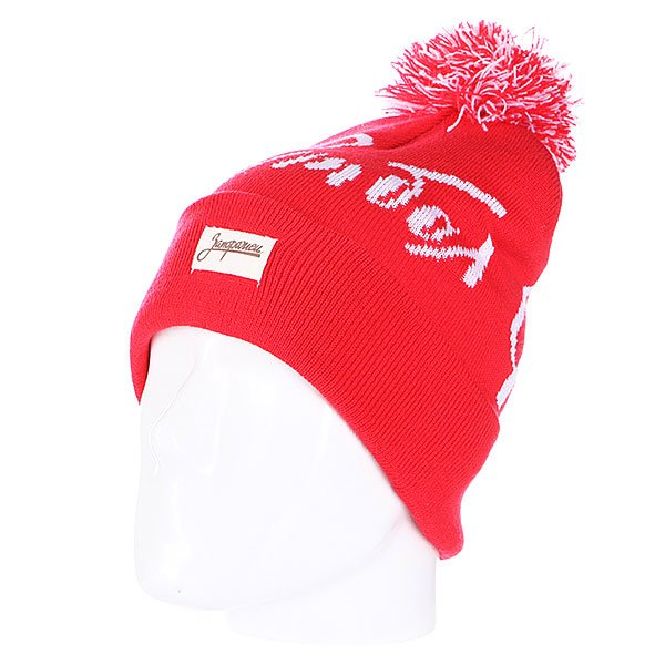 Шапка с помпоном Запорожец Football Beanies Red<br><br>Цвет: красный<br>Тип: Шапка<br>Возраст: Взрослый<br>Пол: Мужской