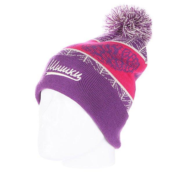 Шапка с помпоном Запорожец Cone Beanies Purple<br><br>Цвет: розовый,фиолетовый<br>Тип: Шапка<br>Возраст: Взрослый<br>Пол: Мужской