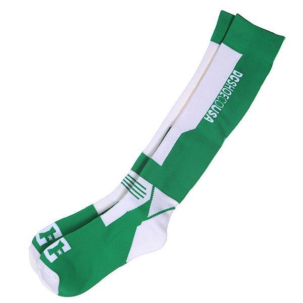 Носки DC Shoes Apache Bright Green<br><br>Цвет: зеленый,белый<br>Тип: Носки высокие<br>Возраст: Взрослый<br>Пол: Мужской