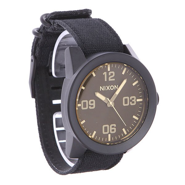 Часы Nixon Corporal Matte Black/Orange Tint