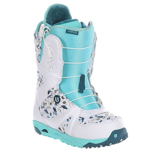 Ботинки для сноуборда женские Burton Emerald Wht/Teal/Hummingbird