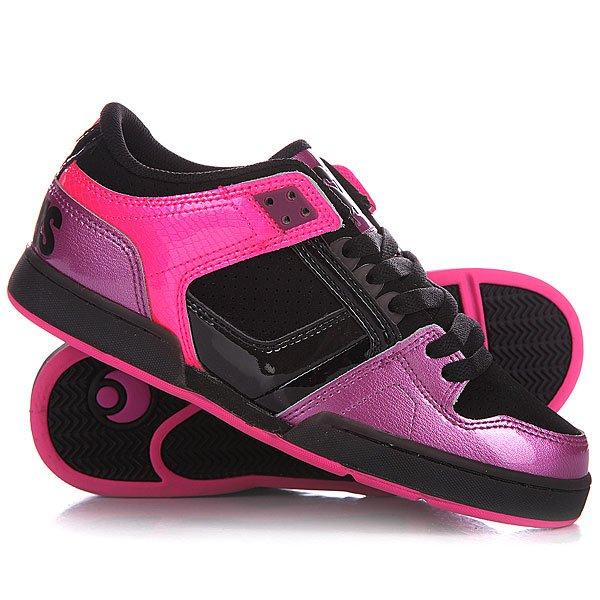 Кеды кроссовки женские Osiris Nyc Low Pink/Purple/BlackКогда дело касается обновления модельного ряда хай-топов NYC, фирма Osiris Shoes показывает поистине не иссекаемую фантазию и творческий энтузиазм. Большие, выносливые, гипнотические Osiris NYC – выбирай лучшее. Теперь и в удобном форм-факторе мид-топов. Характеристики:  Верх из искусственной кожи.  Внутренняя мягкая тканьная отделка.  Мягкая гибкая внутренняя стелька. Мягкий воротник. Массивный мягкий язычок.  Классическая плоская шнуровка. Двойной шов в области «олли».  Легкая перфорация на носке и боковой части ботинка.  Гибкая прошитая утолщенная вулканизированная резиновая подошва. Логотип производителя на пятке и язычке<br><br>Цвет: розовый,черный<br>Тип: Кеды низкие<br>Возраст: Взрослый<br>Пол: Женский