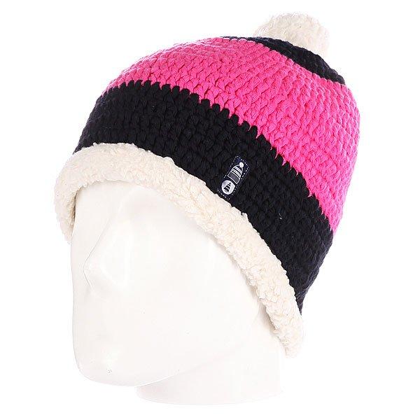 Шапка с помпоном Picture Organic Snowoo Plush Pink<br><br>Цвет: черный,розовый<br>Тип: Шапка<br>Возраст: Взрослый<br>Пол: Мужской