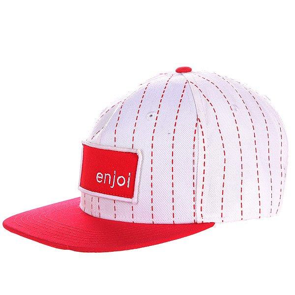 Бейсболка Enjoi Roids White<br><br>Цвет: красный,белый<br>Тип: Бейсболка с прямым козырьком<br>Возраст: Взрослый