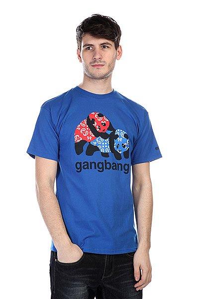 Футболка Enjoi Gangbang Royal<br><br>Цвет: голубой<br>Тип: Футболка<br>Возраст: Взрослый<br>Пол: Мужской