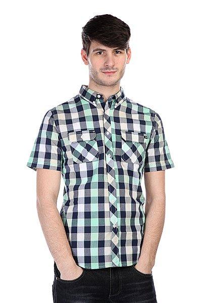 Рубашка в клетку Zoo York Mercury SS Seafoam<br><br>Цвет: синий,зеленый,бежевый<br>Тип: Рубашка в клетку<br>Возраст: Взрослый<br>Пол: Мужской