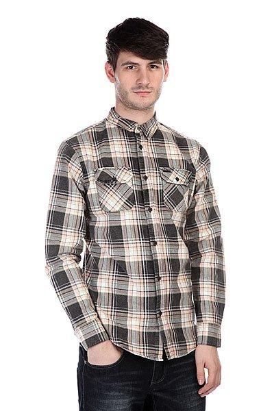 Рубашка в клетку Globe Corsair Shirt Black рубашка в клетку animal snoops black