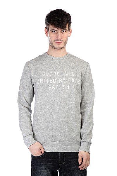 Свитшот Globe Cape Crew Lt. Grey Marle<br><br>Цвет: серый<br>Тип: Толстовка свитшот<br>Возраст: Взрослый<br>Пол: Мужской