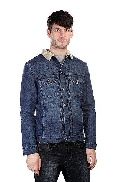 Куртка джинсовая Globe Goodstock Sherpa Jacket BlueТехнические характеристики: Верх из комбинации хлопка и эластана. Внутренняя подкладка из искусственного микрофлиса «шерпа».  Застежка – пуговицы по всей длине. Классический воротник. Два боковых прорезных кармана для рук.  Фасон: стандартный (regular fit).<br><br>Цвет: синий<br>Тип: Куртка джинсовая<br>Возраст: Взрослый<br>Пол: Мужской