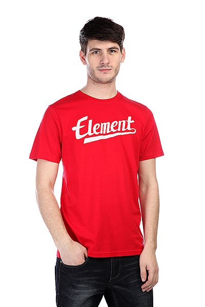 Футболка Element Signature SS Red футболка element vertical ss ash
