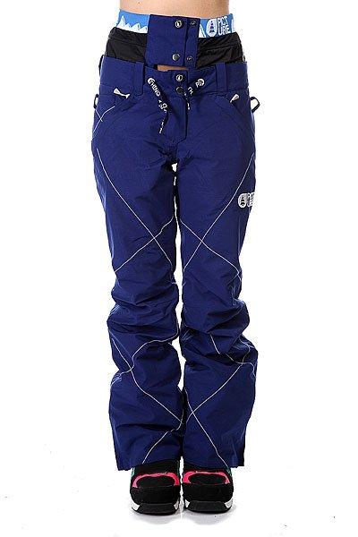 Штаны сноубордические женские Picture Organic Cooler Dark Blue перчатки сноубордические picture organic gloom dark blue