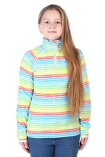 Толстовка сноубордическая детская Roxy Night Fall Half Zip Girl Blu Washed Stri