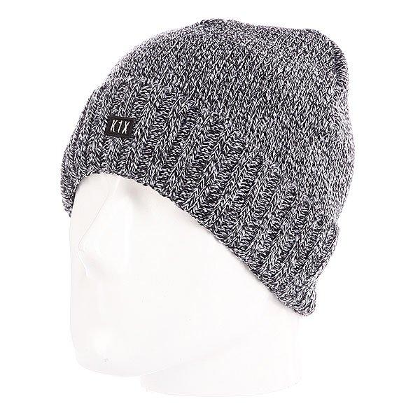Шапка вязаная K1X Authentic Knit Beanie F3 Grey<br><br>Цвет: серый<br>Тип: Шапка<br>Возраст: Взрослый<br>Пол: Мужской