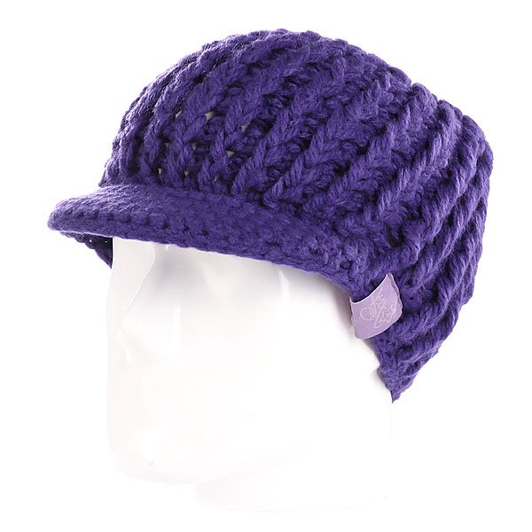 Шапка вязаная женская K1X Shorty Cozy Shield Beanie Purple