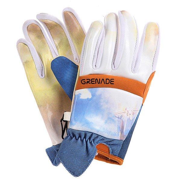 Перчатки сноубордические Grenade Blast Off Glove OrangeХарактеристики:  Мягкая внутренняя отделка для максимального комфорта.  Неопреновая верхняя часть.  Водонепроницаемый слой из мембранного материала Hipora не пропускает влагу снаружи, но не препятствует ее отводу с внутренней стороны.  Мягкая вставка для протирки маски.<br><br>Цвет: белый,оранжевый,голубой<br>Тип: Перчатки сноубордические<br>Возраст: Взрослый<br>Пол: Мужской