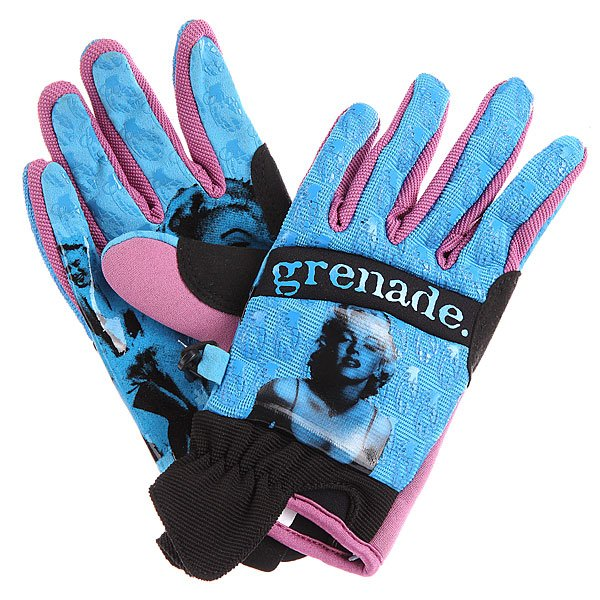 Перчатки сноубордические Grenade Marilyn Glove Blue перчатки сноубордические dakine scout glove rasta