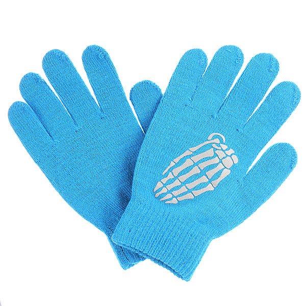 Перчатки сноубордические Grenade Gloves Crypt Blue/GrayХарактеристики:  Изготовлены из мягкого акрила.  Эластичная манжета на резинке. Классический крой.<br><br>Цвет: голубой<br>Тип: Перчатки сноубордические<br>Возраст: Взрослый<br>Пол: Мужской