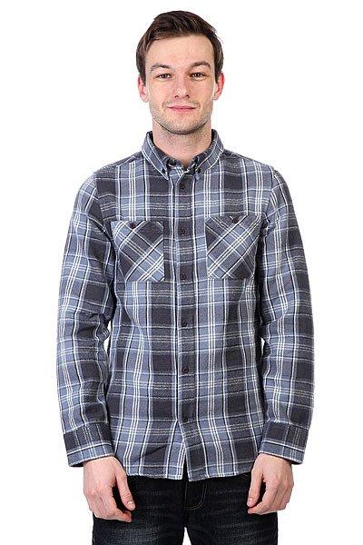 Рубашка в клетку Altamont Binary Ls Flannel Ash emerica рубашка в клетку emerica hard luck ls flannel navy