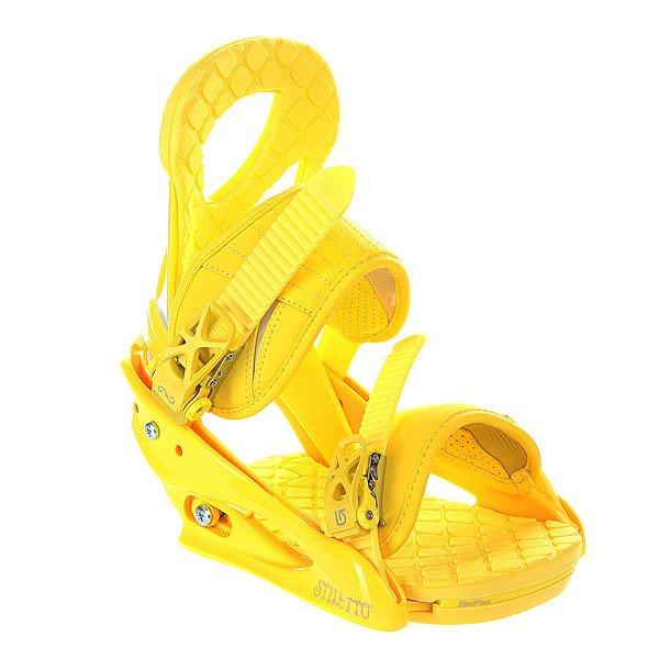 Крепления для сноуборда женские Burton Stiletto Yellow