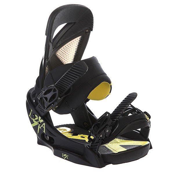 Крепления для сноуборда женские Burton Lexa Est Black/Yellow