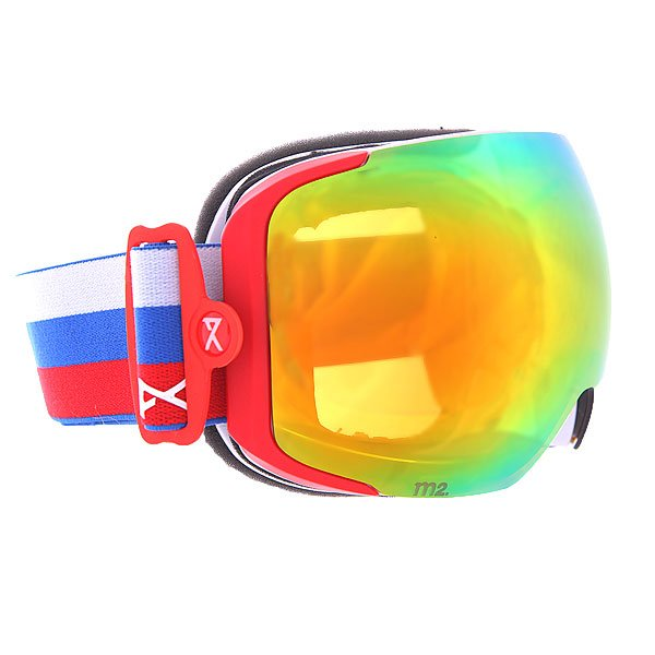 Маска для сноуборда Anon M2 Russia/Red Solex