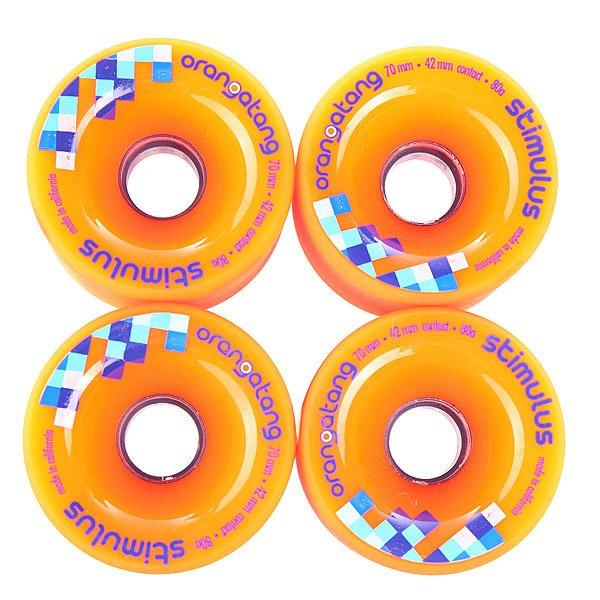 Колеса для скейтборда  Stimulus Orange 80A 70 mm Orangatang. Цвет: оранжевый