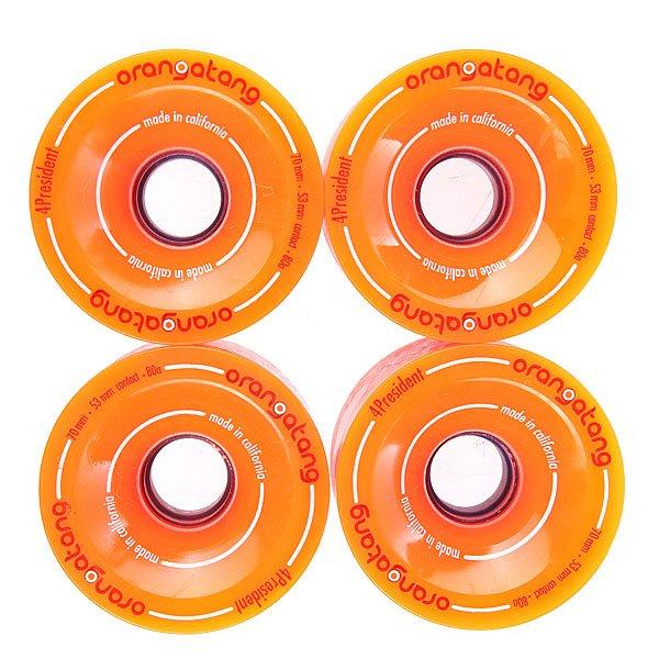 Колеса для скейтборда  President Orange 80A 70mm Orangatang. Цвет: оранжевый