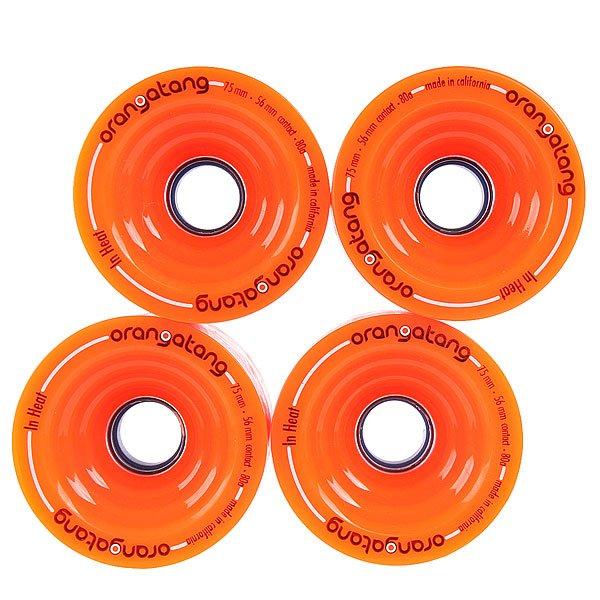 Колеса для скейтборда  In-heat Orange 80A 75 mm Orangatang. Цвет: оранжевый