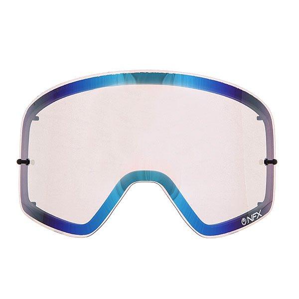 Линза для маски (мото/вело) Dragon Nfx Rpl Lens Aft Steel BlueОтличный обзор благодаря новой бескаркасной технологии Infinity Lens Technology, которая обеспечивает хорошую производительность, а современный пластичный материал Лексан позаботится о безопасности Ваших глаз, потому как  он не разбивается, и не создает угрозы травмирования. Также предусмотрена возможность установки отрывных линз.Технические характеристики: Бескаркасная технология Infinity Lens Technology обеспечивает максимальный обзор.Прочные и одновременно гибкие двойные линзы.Линза абсолютно не искажает обзор благодаря своей геометрии.Линзы на 100% блокируют вредное ультрафиолетовое излучение.Устойчивое к царапинам покрытие.Технология антизапотевания Super Anti-Fog.Линза соответствует оптическому стандарту ANSI Z87.1.Материал - прочный поликарбонат Лексан.Возможно установить 30 отрывных линз.Светопропускная способность - 20%-25%.Для моделей масок Nfx.<br><br>Цвет: синий,желтый<br>Тип: Линзы<br>Возраст: Взрослый<br>Пол: Мужской