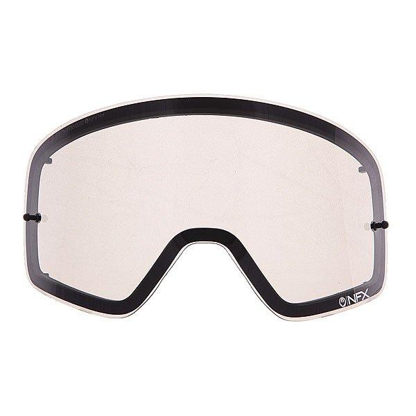 Линза для маски (мото/вело) Dragon Nfx Rpl Lens Aft GreyОтличный обзор благодаря новой бескаркасной технологии Infinity Lens Technology, которая обеспечивает хорошую производительность, а современный пластичный материал Лексан позаботится о безопасности Ваших глаз, потому как  он не разбивается, и не создает угрозы травмирования. Также предусмотрена возможность установки отрывных линз.Технические характеристики: Бескаркасная технология Infinity Lens Technology обеспечивает максимальный обзор.Прочные и одновременно гибкие двойные линзы.Линза абсолютно не искажает обзор благодаря своей геометрии.Линзы на 100% блокируют вредное ультрафиолетовое излучение.Устойчивое к царапинам покрытие.Технология антизапотевания Super Anti-Fog.Линза соответствует оптическому стандарту ANSI Z87.1.Материал - прочный поликарбонат Лексан.Возможно установить 30 отрывных линз.Светопропускная способность - 81%.Для моделей масок Nfx.<br><br>Цвет: серый<br>Тип: Линзы<br>Возраст: Взрослый<br>Пол: Мужской