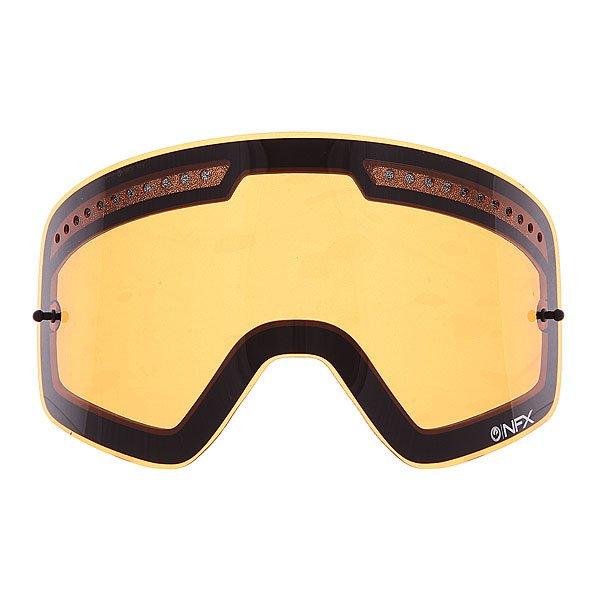 Линза для маски (мото/вело) Dragon Nfx All Weather Rpl Lens AmberЗапатентованная бескаркасная технология линз Infinity Lens Technology, предлагает непревзойденное периферическое зрение при улучшенной производительности и безопасности. Возможность установки 30 отрывных линз.                                                                                          Технические характеристики: Бескаркасная технология Infinity Lens Technology обеспечивает максимальный обзор.Линза абсолютно не искажает обзор благодаря своей геометрии.Система вентиляции, препятствующая запотеванию.100% защита от ультрафиолета.Устойчивое к царапинам покрытие.Технология антизапотевания Super Anti-Fog.Линза соответствует оптическому стандарту ANSI Z87.1.Материал - прочный поликарбонат Лексан.Возможность установки отрывных линз (30шт.).Светопропускная способность - 35%-40%.Для моделей масок Nfx.<br><br>Цвет: оранжевый<br>Тип: Линзы<br>Возраст: Взрослый<br>Пол: Мужской