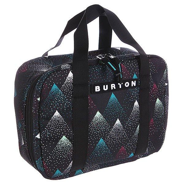 Сумка Burton Lunch Box DissolveПростая и удобная сумка-кулер для завтрака чемпиона. Компактна и легко моется.Характеристики:  Легко чистящееся термоизолированное отделение на молнии.  Лямки на задней стенке позволяют с лёгкостью прикрепить ланчбокс к рюкзаку или сумке.<br><br>Цвет: черный<br>Тип: Сумка<br>Возраст: Взрослый<br>Пол: Мужской
