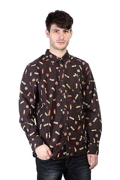 Рубашка Burton Mb Farrel Wvn Ls Canteen Print<br><br>Цвет: черный<br>Тип: Рубашка<br>Возраст: Взрослый<br>Пол: Мужской