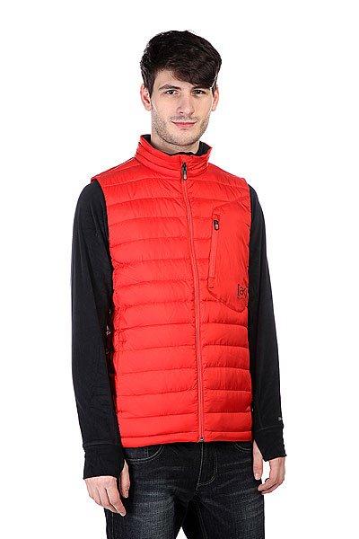 Жилет Burton Ak Bk Ins Vest FangТехнические характеристики: Легкий утеплитель (осень/весна).  Верх из 100% полиэстера.  Внутренняя нейлоновая подкладка.   Застежка – молния по всей длине.  Воротник-стойка.  Два боковых прорезных кармана для рук. Фасон: Телогрейка (Body warmer)<br><br>Цвет: красный<br>Тип: Жилетка<br>Возраст: Взрослый<br>Пол: Мужской