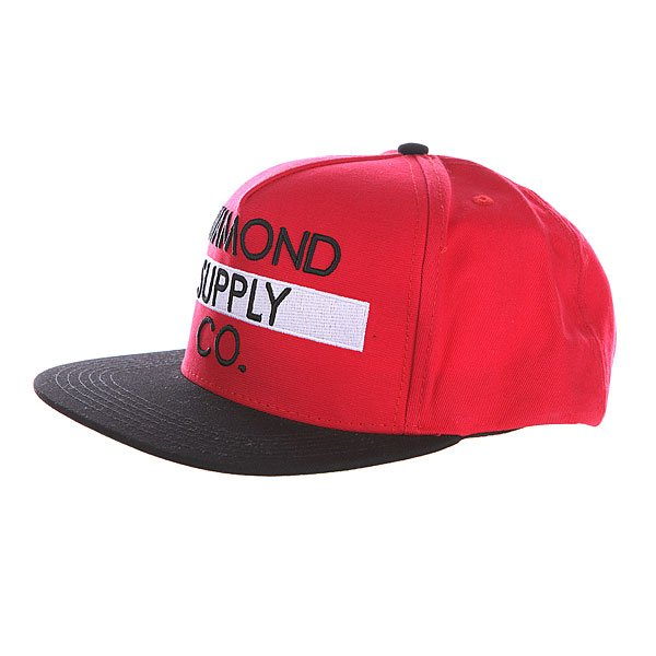Бейсболка Diamond Bar Logo Snapback Red/Black брюки tom farr брюки чинос