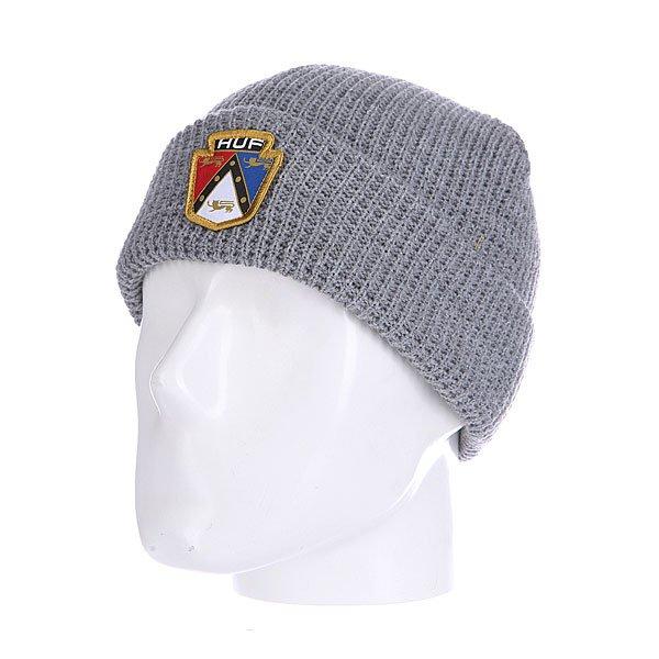 Шапка Huf Badge Beanie Grey<br><br>Цвет: серый<br>Тип: Шапка<br>Возраст: Взрослый<br>Пол: Мужской