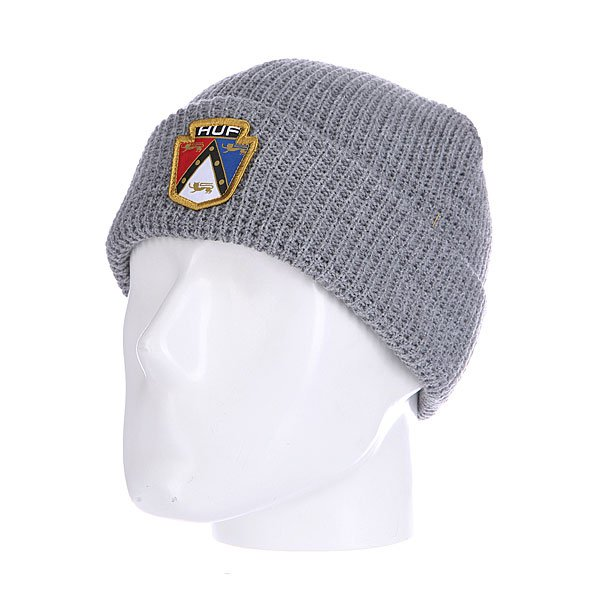 Шапка Huf Badge Beanie Grey<br><br>Цвет: серый<br>Тип: Шапка<br>Возраст: Взрослый