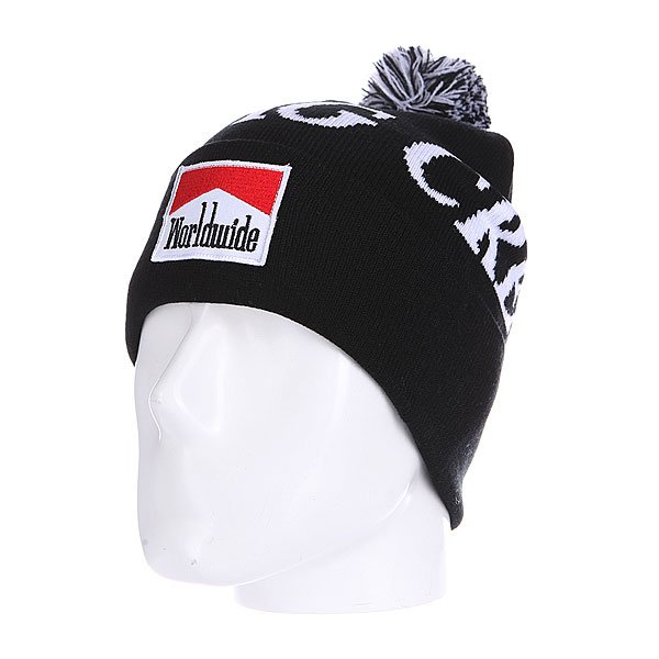 Шапка с помпоном Huf Worldwide Dbc Pom Beanie Black бейсболка huf dbc king snapback black