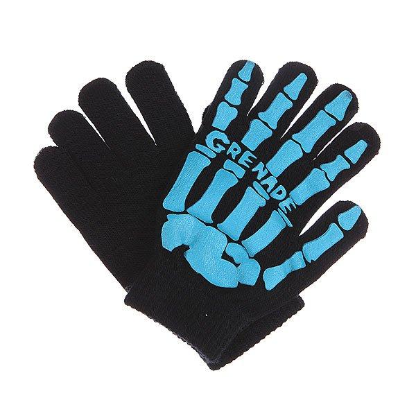 Перчатки Grenade Skull Black/Aqua