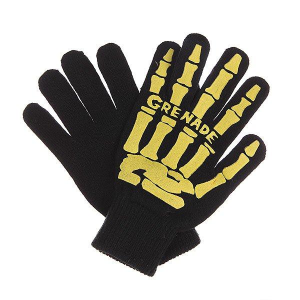 Перчатки Grenade Scull Hand Glove Yellow<br><br>Цвет: черный,желтый<br>Тип: Перчатки<br>Возраст: Взрослый<br>Пол: Мужской