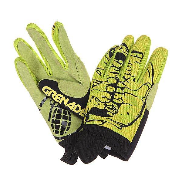 Перчатки Grenade Skull Glove Green<br><br>Цвет: зеленый,черный<br>Тип: Перчатки<br>Возраст: Взрослый<br>Пол: Мужской