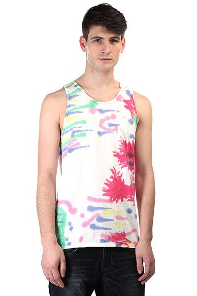 Майка Huf Leaves Tie Dye Tank Rainbow майка huf 12 galaxies tank navy heather