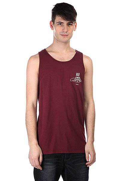 Майка Huf Brotherhood Tank Burgundy майка huf 12 galaxies tank navy heather