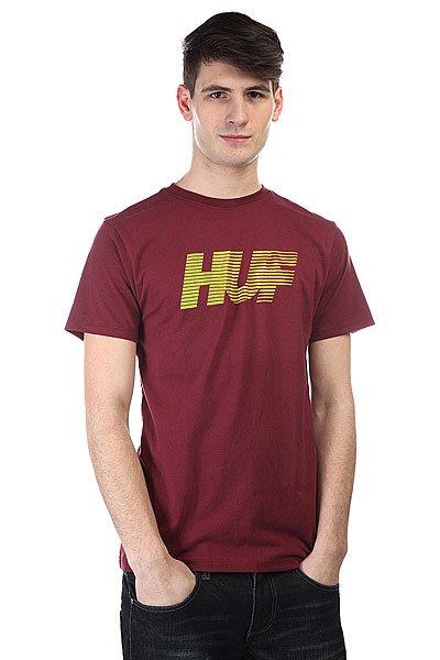 Футболка Huf 10k Gradient Tee Burgundy<br><br>Цвет: бордовый<br>Тип: Футболка<br>Возраст: Взрослый<br>Пол: Мужской