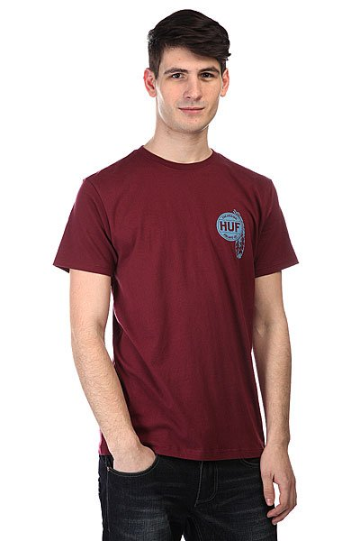 Футболка Huf Native Tee Burgundy
