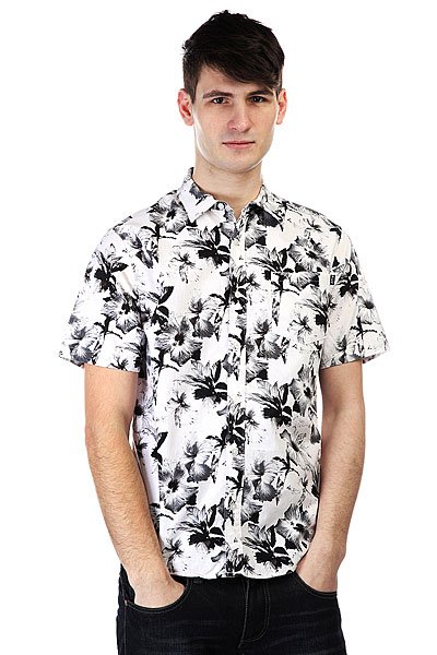 Рубашка Huf Floral S/S Woven White Floral