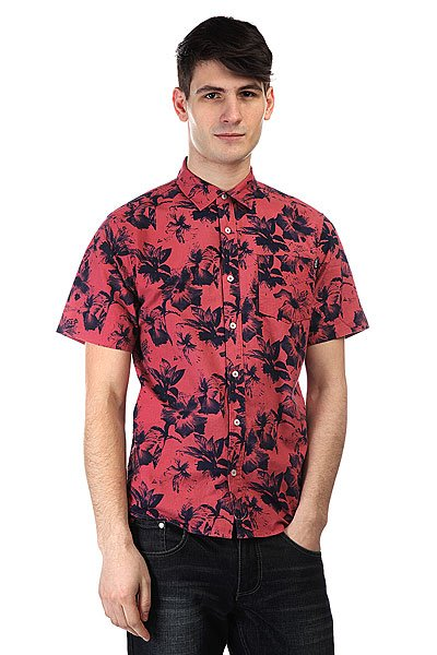 Рубашка Huf Floral S/S Woven Salmon Floral рубашка huf floral s s woven salmon floral