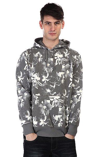 Кенгуру Huf Floral Pullover Hood Black Floral<br><br>Цвет: серый,белый<br>Тип: Толстовка кенгуру<br>Возраст: Взрослый<br>Пол: Мужской