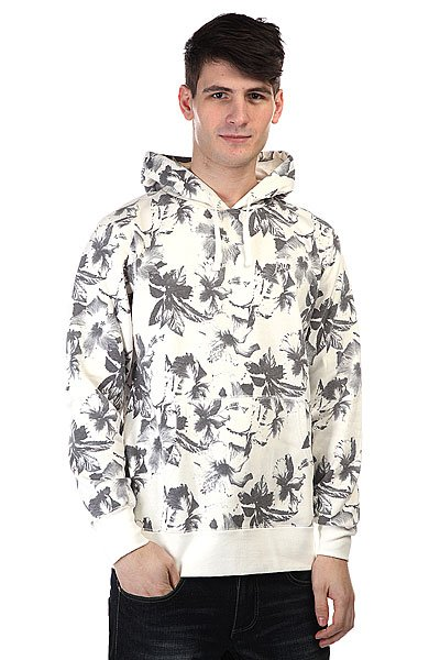 Кенгуру Huf Floral Pullover Hood White Floral толстовка кенгуру fallen brooklyn pullover hood forest green