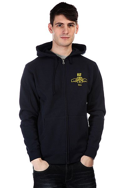 Толстовка Huf Brotherhood Zip Navy